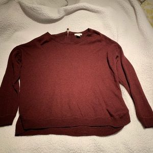 H&M maroon long sleeve oversized sweater